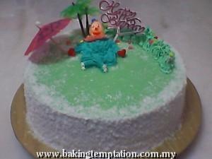 Pandan Pudding Layer Cake
