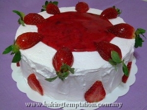 Strawberries Yogurt Cake