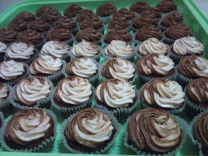 Mini Cup Cake with Chocolate & Vanilla Buttercream