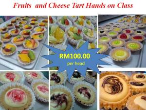 Fruit tart & Cheese Tart Hands On